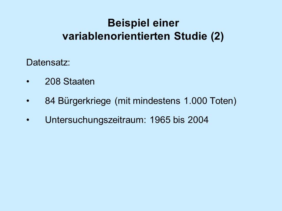 Beispiel einer variablenorientierten Studie (2)