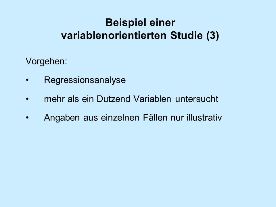 Beispiel einer variablenorientierten Studie (3)