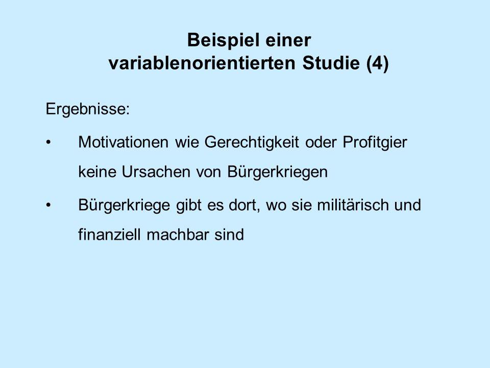 Beispiel einer variablenorientierten Studie (4)