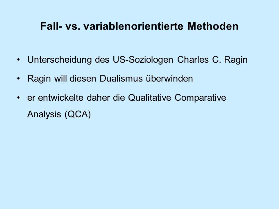 Fall- vs. variablenorientierte Methoden