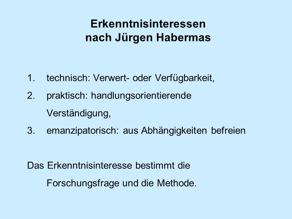 Erkenntnisinteressen nach Jürgen Habermas