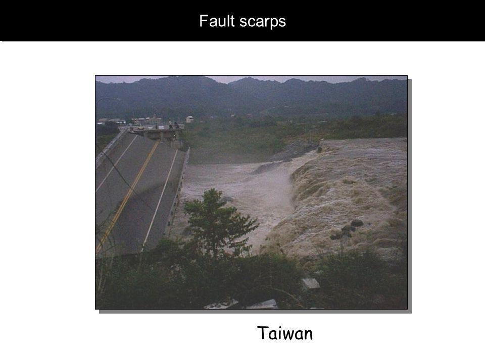 Fault scarps Taiwan