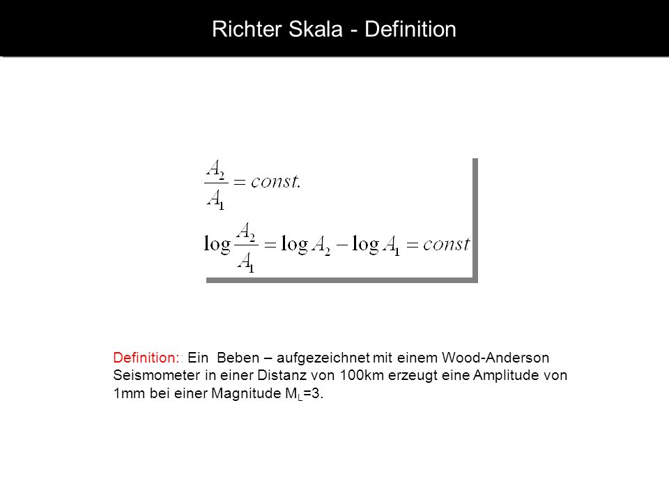 Richter Skala - Definition