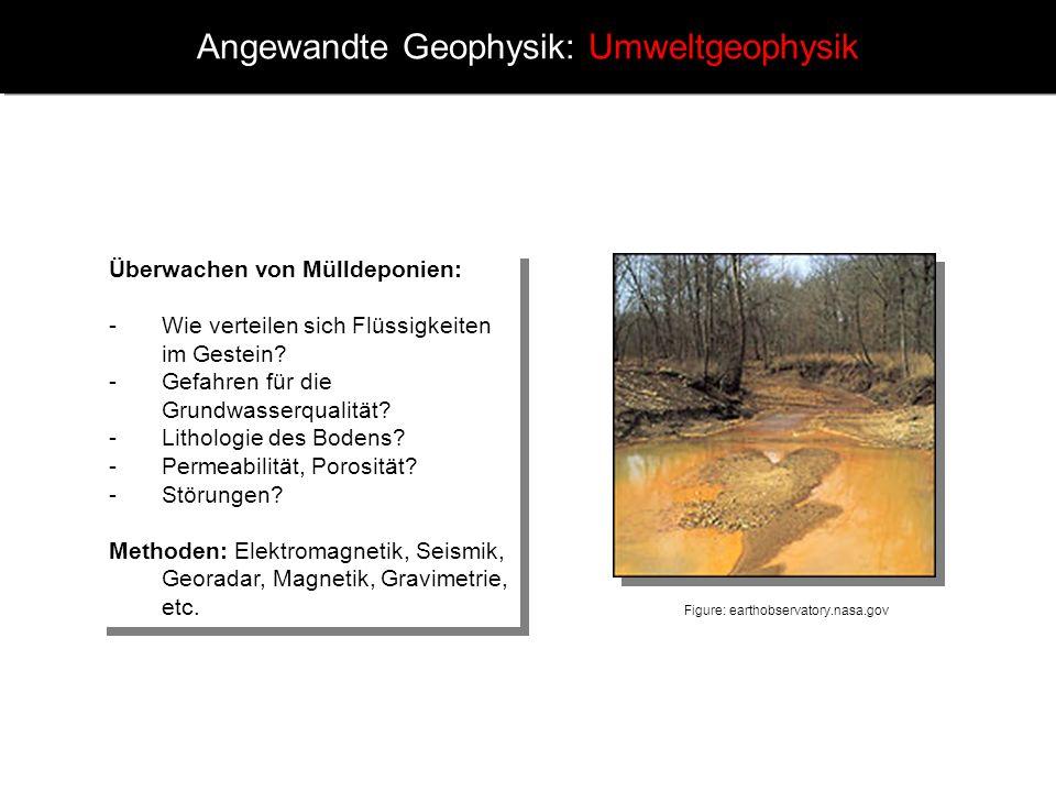Angewandte Geophysik: Umweltgeophysik