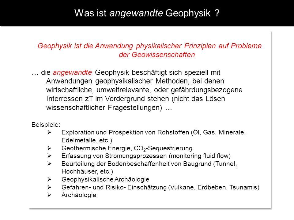 Was ist angewandte Geophysik