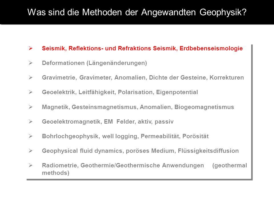 Was sind die Methoden der Angewandten Geophysik