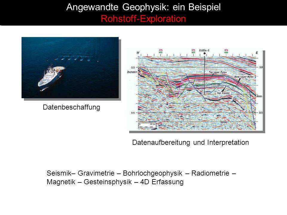 Angewandte Geophysik: ein Beispiel Rohstoff-Exploration