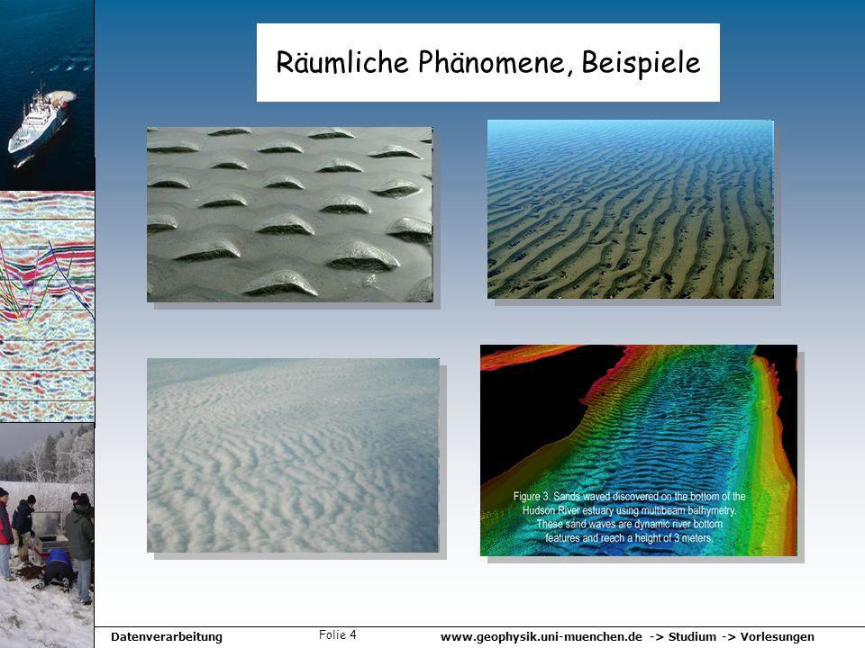 Räumliche Phänomene, Beispiele