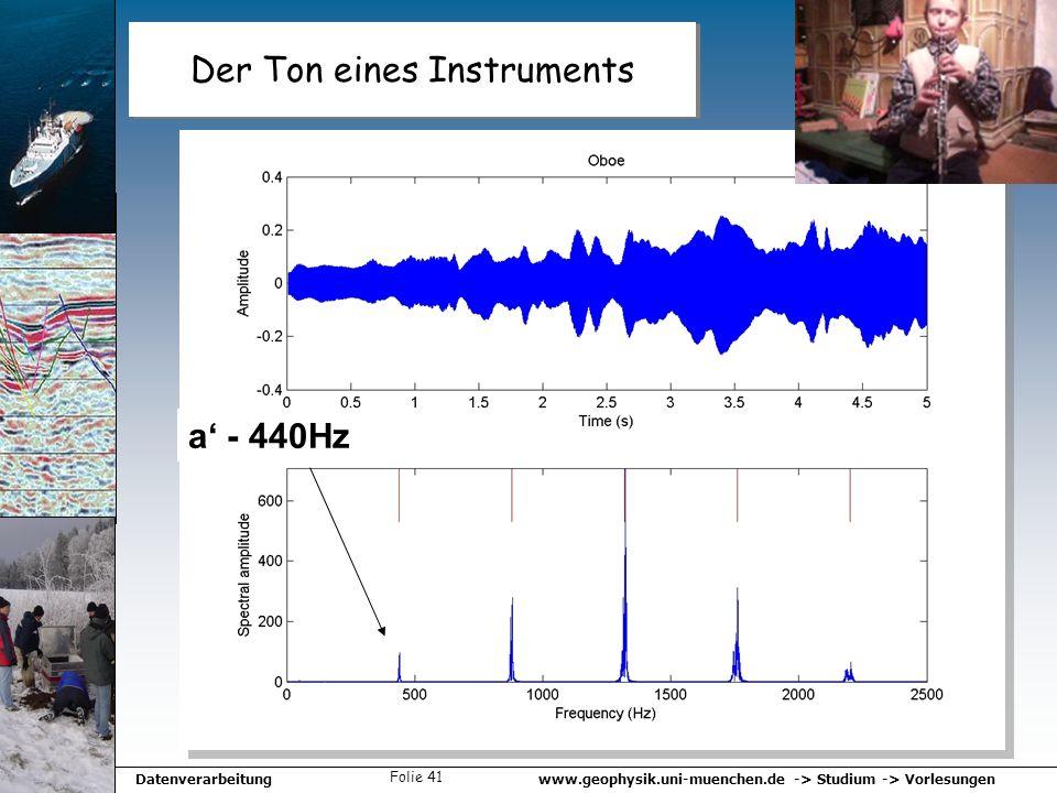 Der Ton eines Instruments