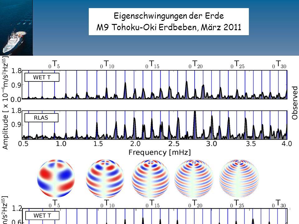 Eigenschwingungen der Erde M9 Tohoku-Oki Erdbeben, März 2011