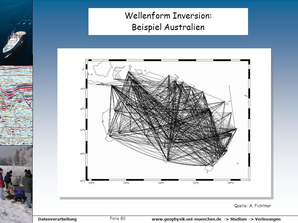 Wellenform Inversion: Beispiel Australien