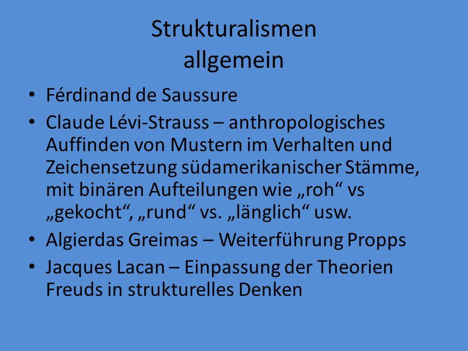 Strukturalismen allgemein