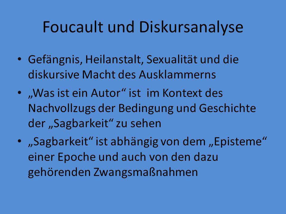 Foucault und Diskursanalyse