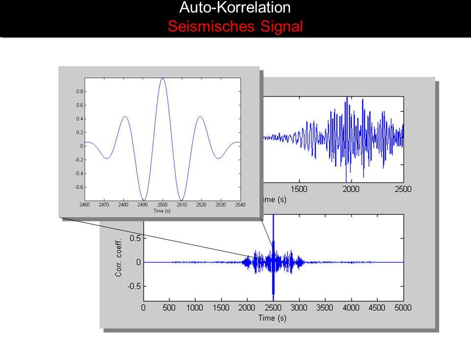 Auto-Korrelation Seismisches Signal