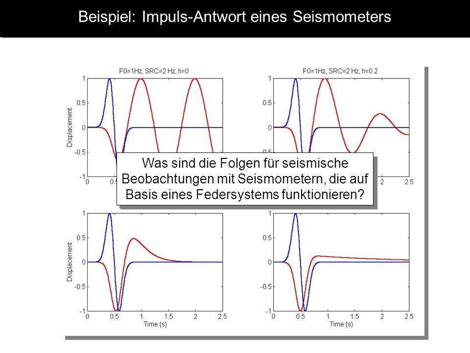 Beispiel: Impuls-Antwort eines Seismometers