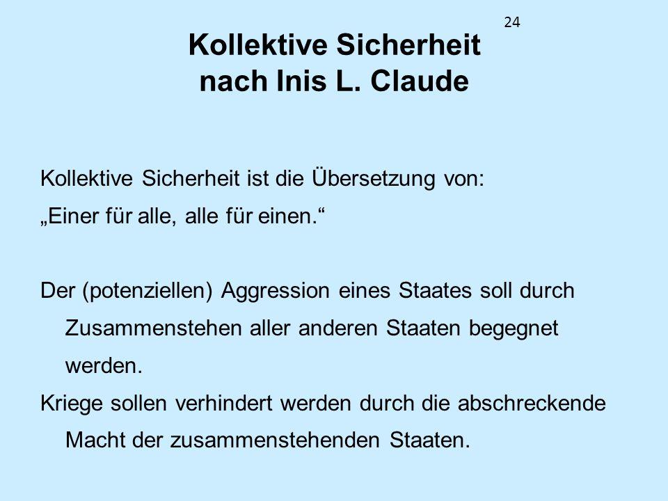 Kollektive Sicherheit nach Inis L. Claude