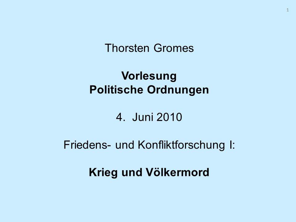 1 Thorsten Gromes Vorlesung Politische Ordnungen 4.