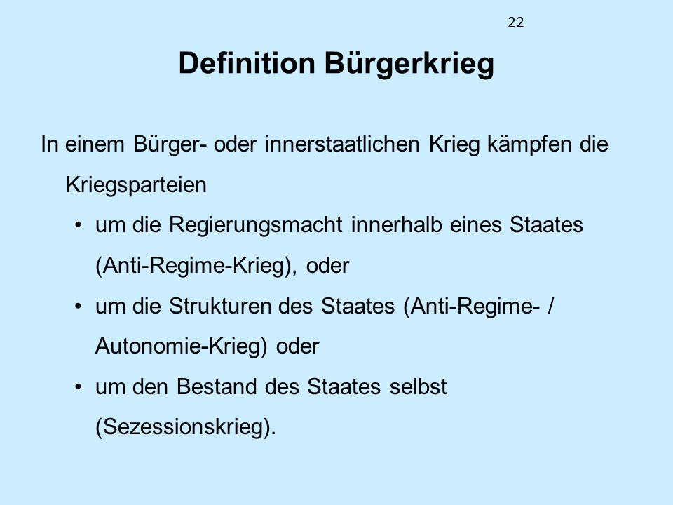 Definition Bürgerkrieg