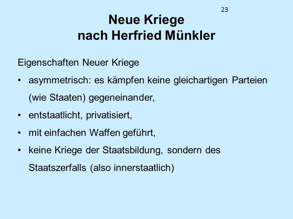 Neue Kriege nach Herfried Münkler