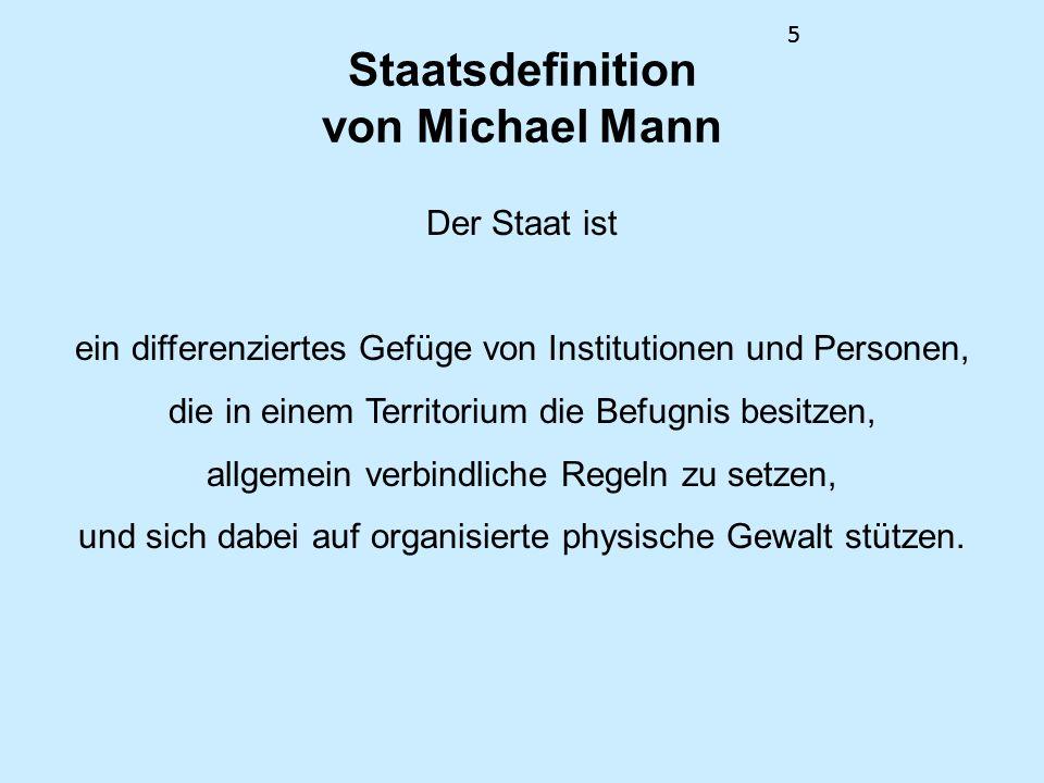 Staatsdefinition von Michael Mann