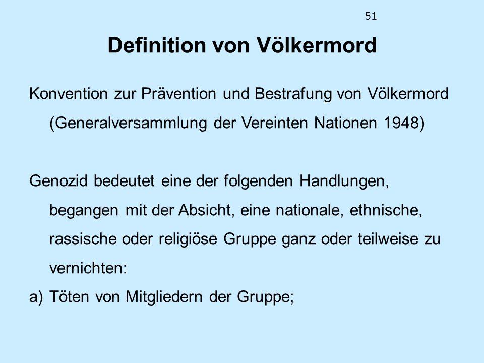 Definition von Völkermord