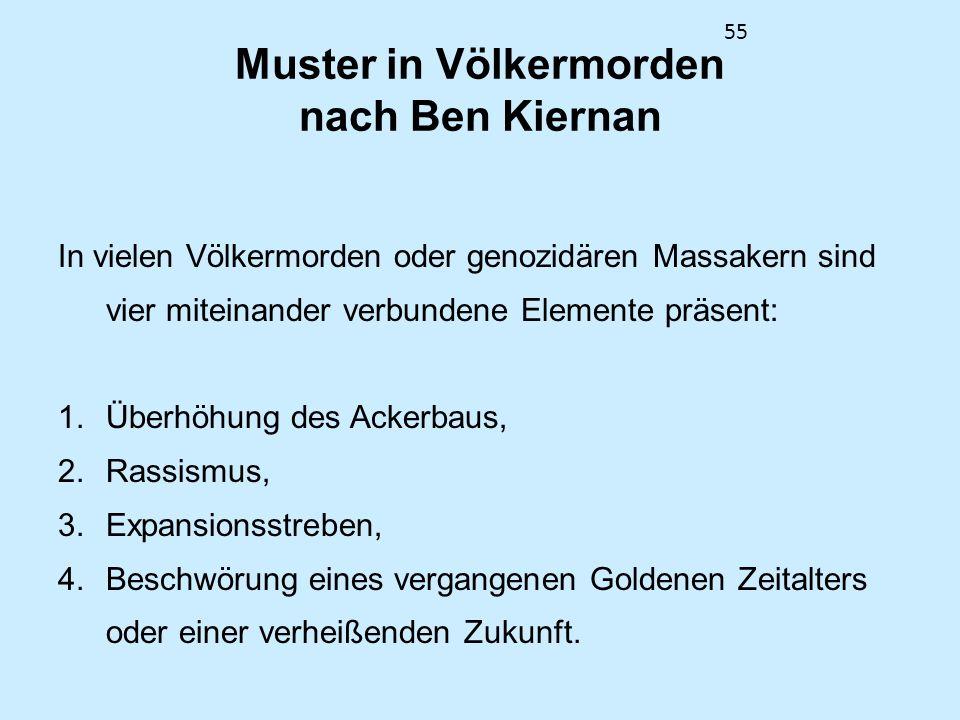 Muster in Völkermorden nach Ben Kiernan