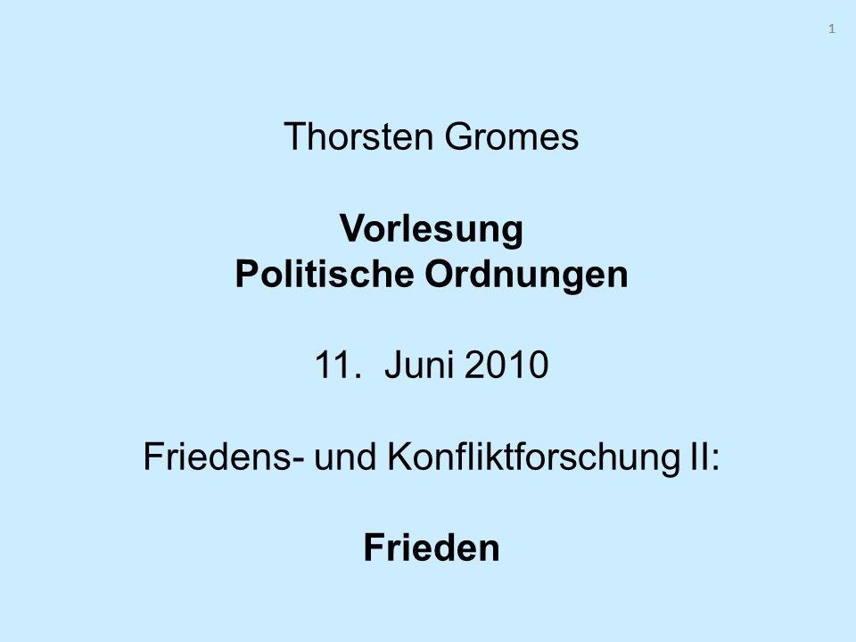 1 1. Thorsten Gromes Vorlesung Politische Ordnungen 11.