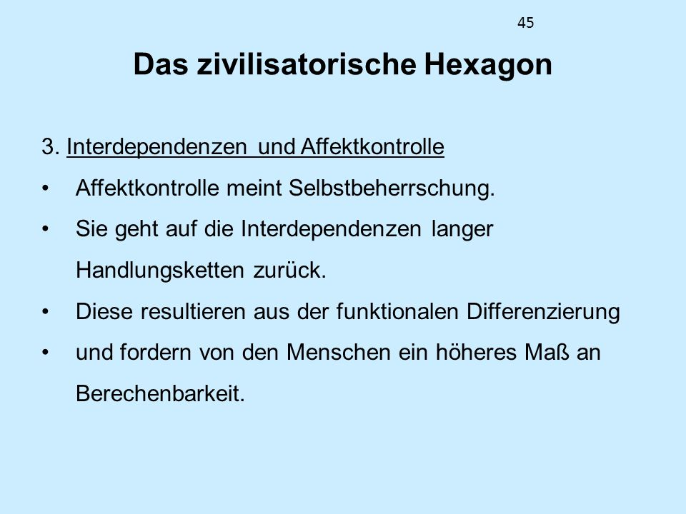 Das zivilisatorische Hexagon