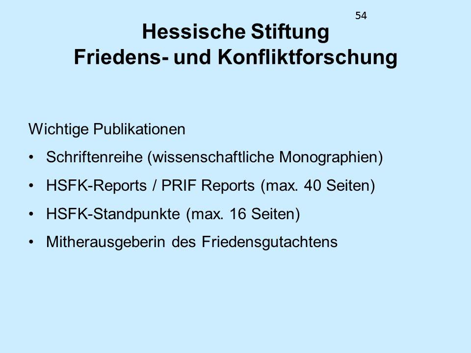 Hessische Stiftung Friedens- und Konfliktforschung