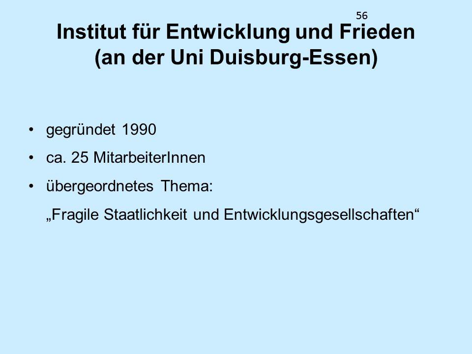Institut für Entwicklung und Frieden (an der Uni Duisburg-Essen)