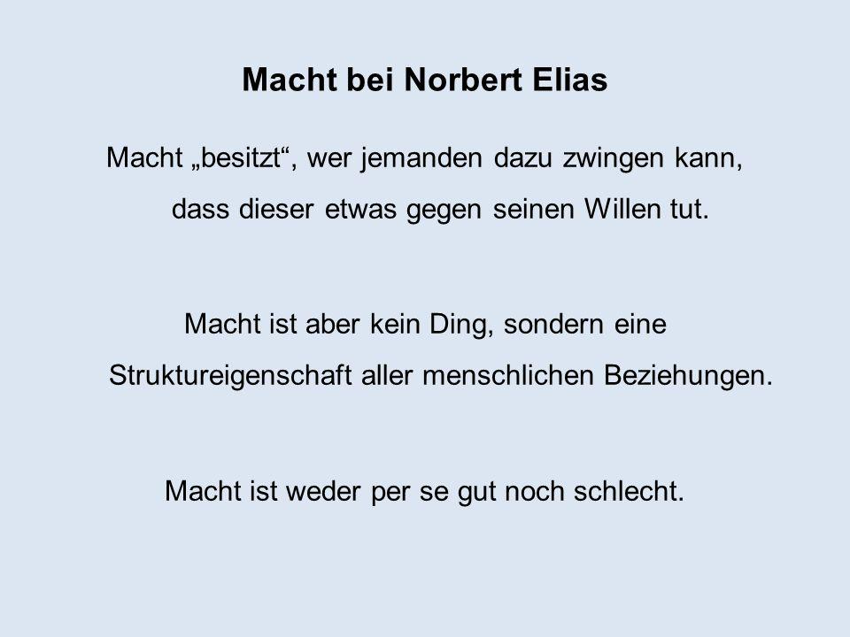 Macht bei Norbert Elias