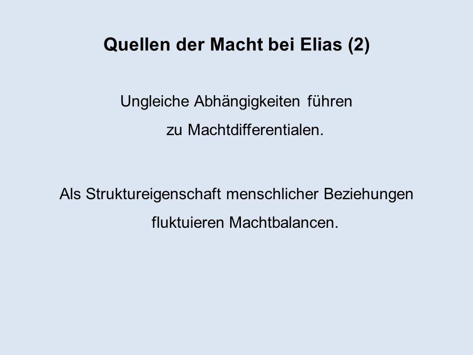 Quellen der Macht bei Elias (2)