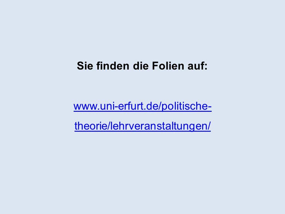 Sie finden die Folien auf: www. uni-erfurt