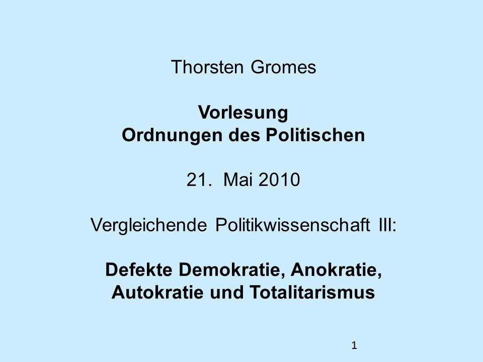 Thorsten Gromes Vorlesung Ordnungen des Politischen 21