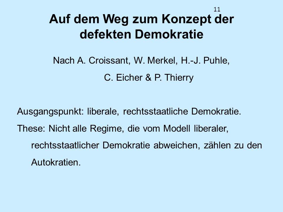 Auf dem Weg zum Konzept der defekten Demokratie