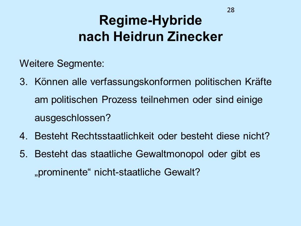 Regime-Hybride nach Heidrun Zinecker
