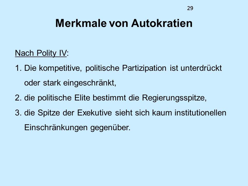 Merkmale von Autokratien