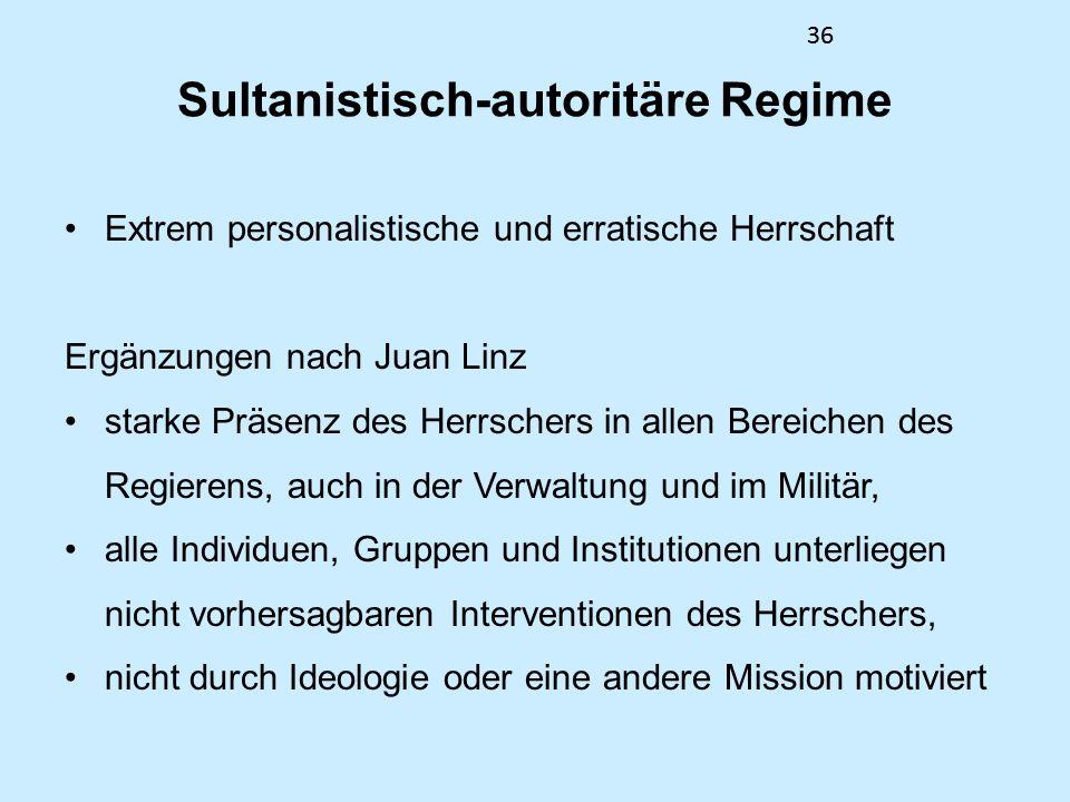 Sultanistisch-autoritäre Regime