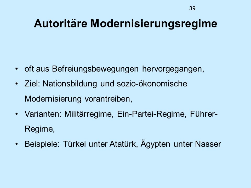 Autoritäre Modernisierungsregime