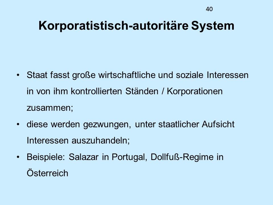 Korporatistisch-autoritäre System