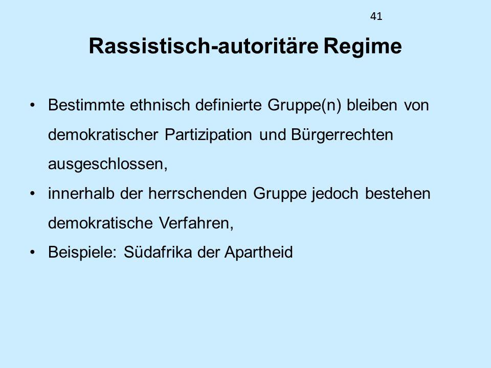 Rassistisch-autoritäre Regime