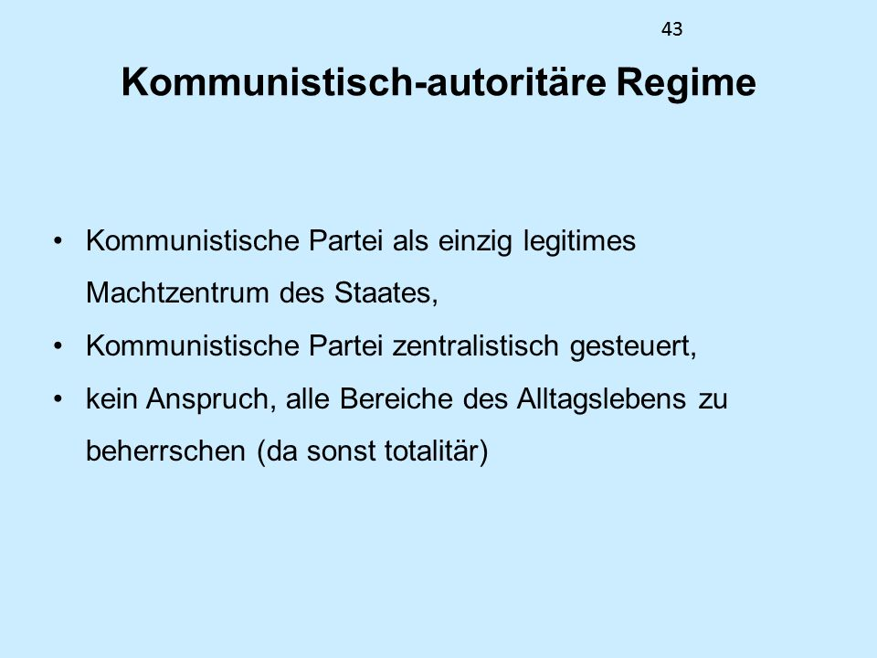 Kommunistisch-autoritäre Regime