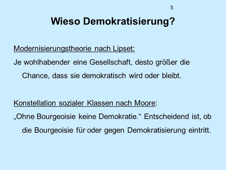 Wieso Demokratisierung