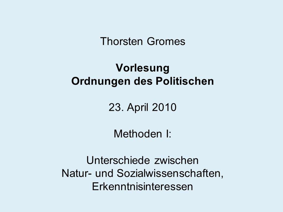 Thorsten Gromes Vorlesung Ordnungen des Politischen 23