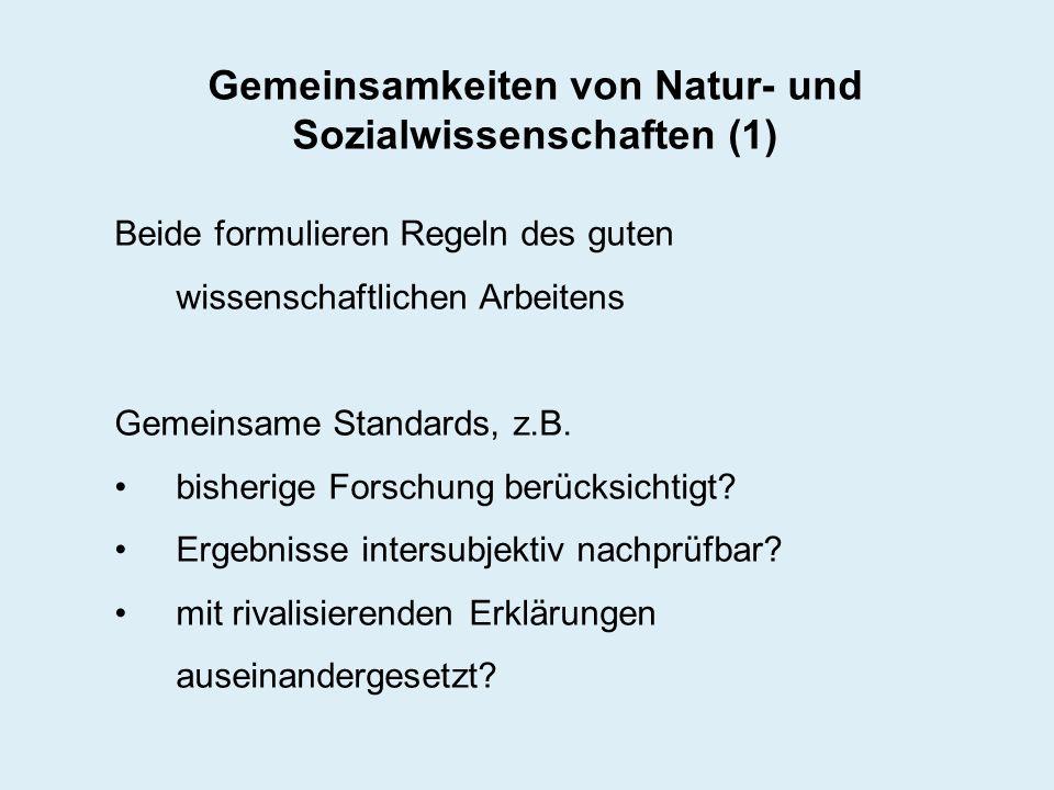 Gemeinsamkeiten von Natur- und Sozialwissenschaften (1)