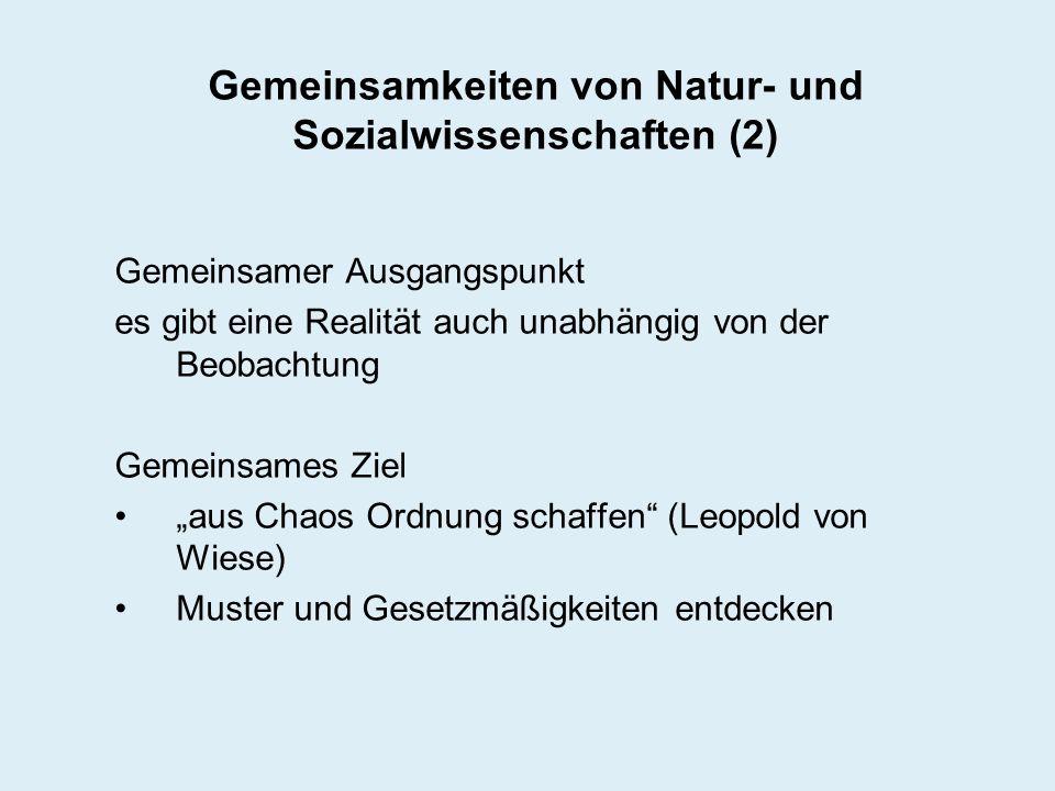 Gemeinsamkeiten von Natur- und Sozialwissenschaften (2)