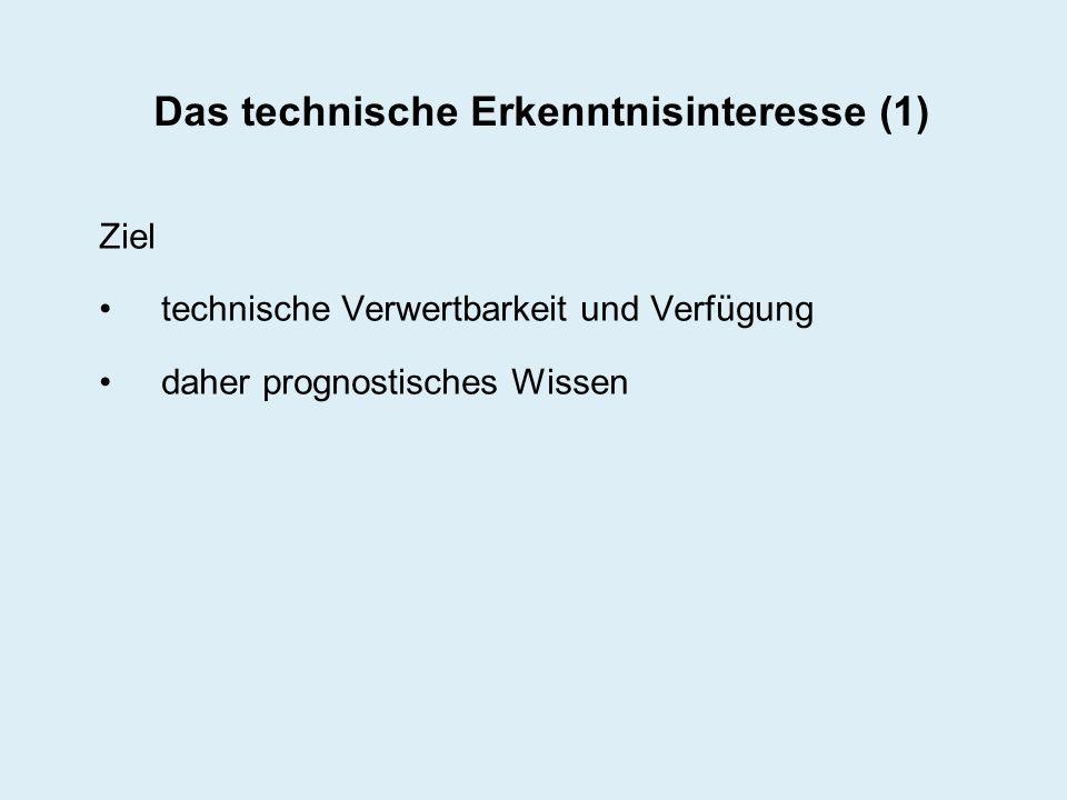 Das technische Erkenntnisinteresse (1)