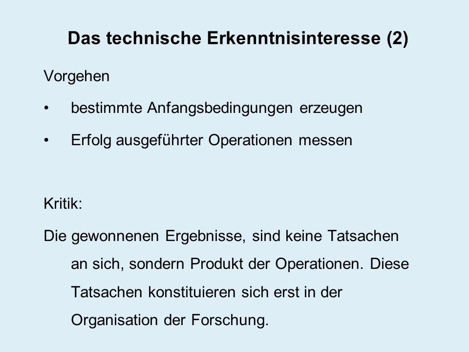 Das technische Erkenntnisinteresse (2)