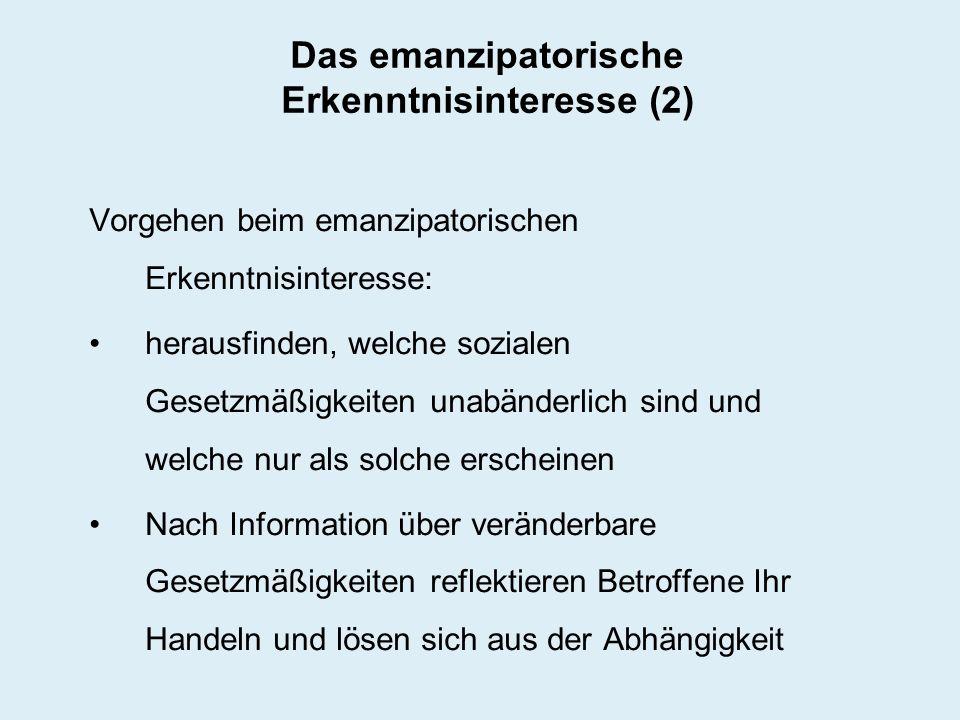 Das emanzipatorische Erkenntnisinteresse (2)