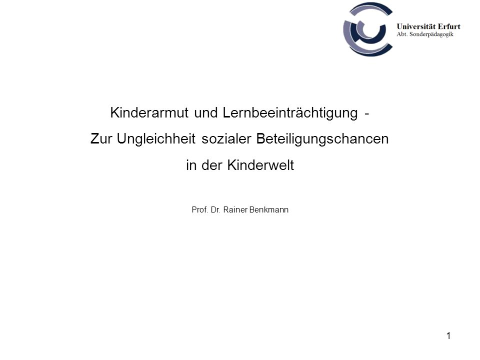 Kinderarmut und Lernbeeinträchtigung -